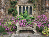 Bench, Stone Seat & Phlox on Patio, Window Photographie par Christopher Fairweather