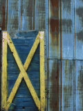 Rusted Colorful Barn Door, Esko, MN Photographic Print by Adam Stockland