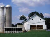 Amish Farm with Tobacco Dried in Barn, PA Photographic Print by Barry Winiker