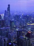 Skyline Dusk, Chicago, IL Fotografisk tryk af Mark Gibson