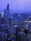 Skyline Dusk, Chicago, IL Photographic Print by Mark Gibson