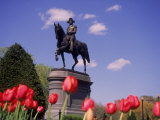 George Washington Statue, Boston Public Gardens Photographic Print by Bud Freund