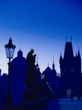 Old Town and Tower, Charles Bridge, Cent Bohemia Photographic Print by Walter Bibikow