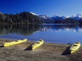 Kayaks, Isla Victoria, Argentina Photographic Print