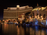 The Bellagio at Night, Las Vegas, NV Photographic Print by Michele Burgess