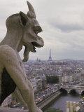 Gargoyle, Notre Dame, Paris, France Fotografie-Druck von Alan Veldenzer