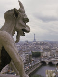 Gargoyle, Notre Dame, Paris, France Photographic Print by Alan Veldenzer
