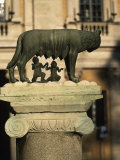 The Wolf with Romuls and Remus, Rome, Italy Photographic Print by Angelo Cavalli