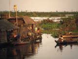 Vietnamese Floating Village, Cambodia Photographic Print by Walter Bibikow