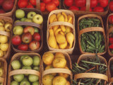Baskets of a Variety of Fruits and Vegetables Photographic Print by Eric Horan