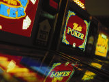 Video Gambling Machines at Casino, NV Photographic Print by Gary Conner