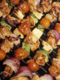 Chicken Kabobs Photographic Print by Amy And Chuck Wiley/wales