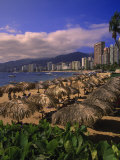 Beachfront on Playa Icacos, Acapulco, Mexico Photographic Print by Walter Bibikow
