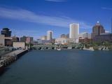 Skyline, Genessee River, Rochester, New York Fotografie-Druck von Bill Bachmann