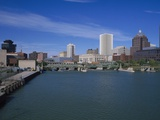Skyline, Genessee River, Rochester, New York Photographic Print by Bill Bachmann
