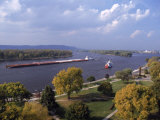 Aerial of Mississippi River, La Crosse, WI Photographic Print by Ed Lallo