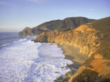 Seascape with Cliffs, San Mateo County, CA Photographic Print by Shmuel Thaler