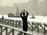 Tai Chi Practiced Along Victoria Harbor, Hk, China Photographic Print by Jeffrey Rotman