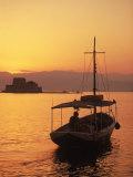 Bourtzi Island Fort, Nafplio, Peloponnesos, Greece Photographic Print by Walter Bibikow