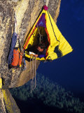 Rock Climber Resting off Rock Fotodruck von Greg Epperson