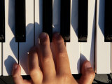 Hand Playing the Piano Photographic Print by Dean Berry