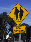 Dear Crossing' Sign, Mature Adults, Orlando, FL Photographic Print by Eunice Harris