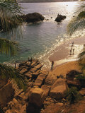 Beach, Playa Hornitos, Acapulco, Mexico Photographic Print by Walter Bibikow