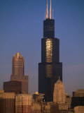 Sears Tower at Sunrise Photographic Print by Bruce Leighty