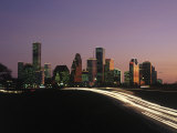 Night Skyline, Houston, Texas Photographic Print by Kevin Leigh
