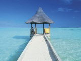 Maldives, Pier and Ocean Photographic Print by Peter Adams