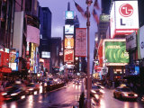 Times Square at Night, NYC, NY Fotografie-Druck von Rudi Von Briel
