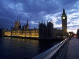 Big Ben, Parliament, River Thames, UK Fotografisk tryk af Dan Gair