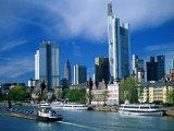 Cityscape of Frankfurt, Germany Photographic Print by Peter Adams