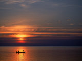 Boat at Sunset, Koh Phangan, Thailand Photographic Print by Thomas McGuire