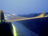 Bristol Suspension Bridge at Night, England, UK Photographic Print by Mike England