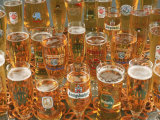 European Beer Glasses with Pretzels Photographic Print by Karen M. Romanko