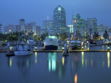 Harbor &amp; Downtown at Dusk, San Diego, CA Photographic Print by Mark Gibson