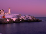 Nubble Lighthouse, Sunset, Cape Neddick, York, ME Photographic Print by Ed Langan
