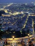 Acropolis & Likavitos Hill, Athens, Greece Photographic Print by Walter Bibikow