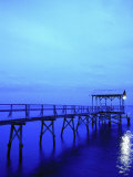 Pier, Mississippi Gulf, Bay St. Louis, MS Photographic Print by Kindra Clineff