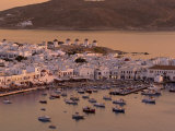 Aerial View of Mykonos Town, Mykonos, Greece Photographic Print by Walter Bibikow