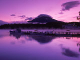 Mt. Akandake and Lake Akando, Dawn, Japan Photographic Print by Walter Bibikow