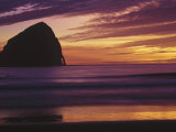 Haystack Rock at Sunset, Cannon Beach, OR Photographic Print by David Carriere