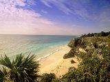 Caribbean Sea, Tulum, Yucatan, Mexico Photographic Print by Walter Bibikow