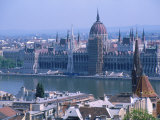 Parliment and the Danube River, Budapest, Hungary Photographic Print by Jennifer Broadus