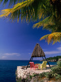 Rock House with Colorful Chairs, Negril, Jamaica Photographic Print by Timothy O'Keefe