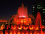 Buckingham Fountain at Night, Chicago, Illinois Photographic Print by Bruce Leighty