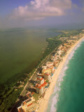 Aerial View of Cancun, Mexico Photographic Print by Walter Bibikow