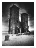 Reculver Towers and Roman Fort, Kent, England Giclee Print by Simon Marsden