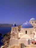Greek Church, Santorini, Greece Fotografie-Druck von Walter Bibikow